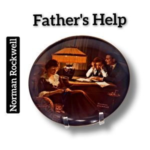 🔴15/$25. Norman Rockwell ~ Father's Help Plate